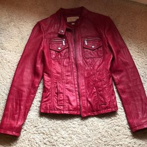 Michael Kira Red Leather Jacket
